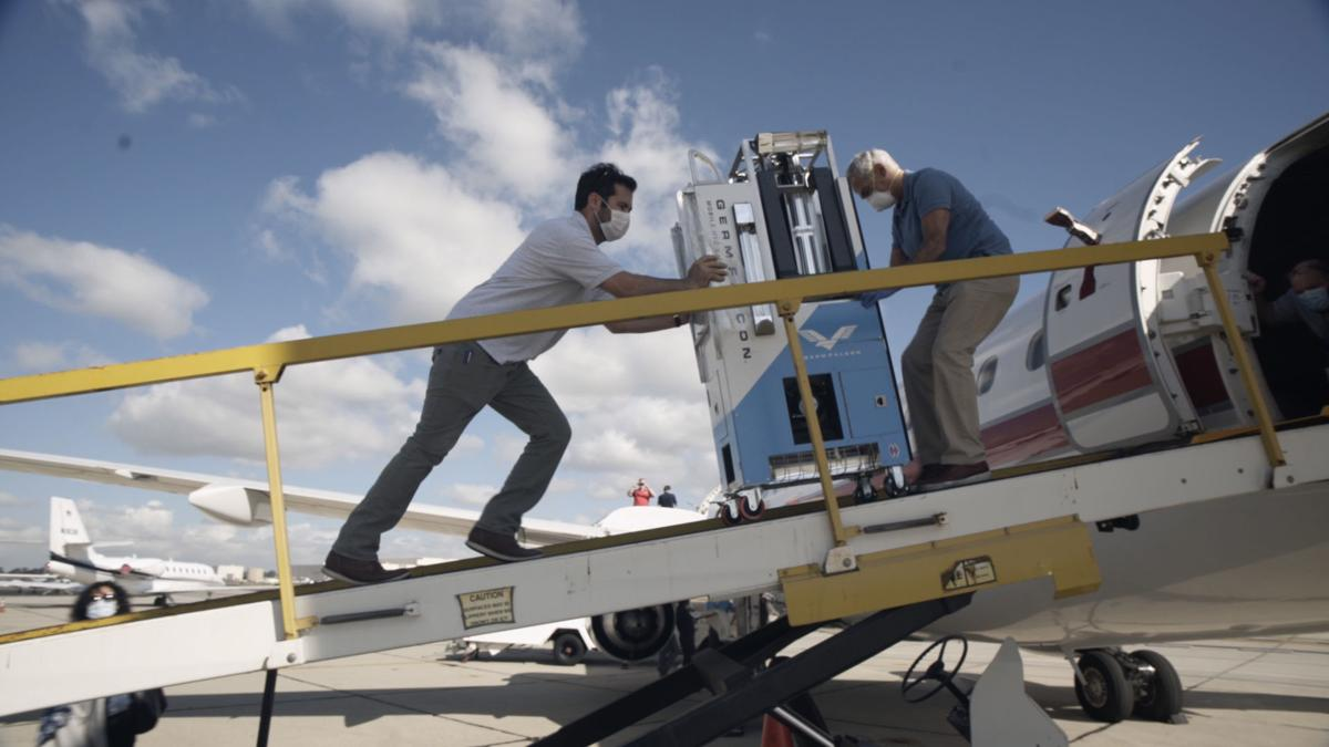 His plane-disinfecting invention didn't take off — until COVID-19 hit