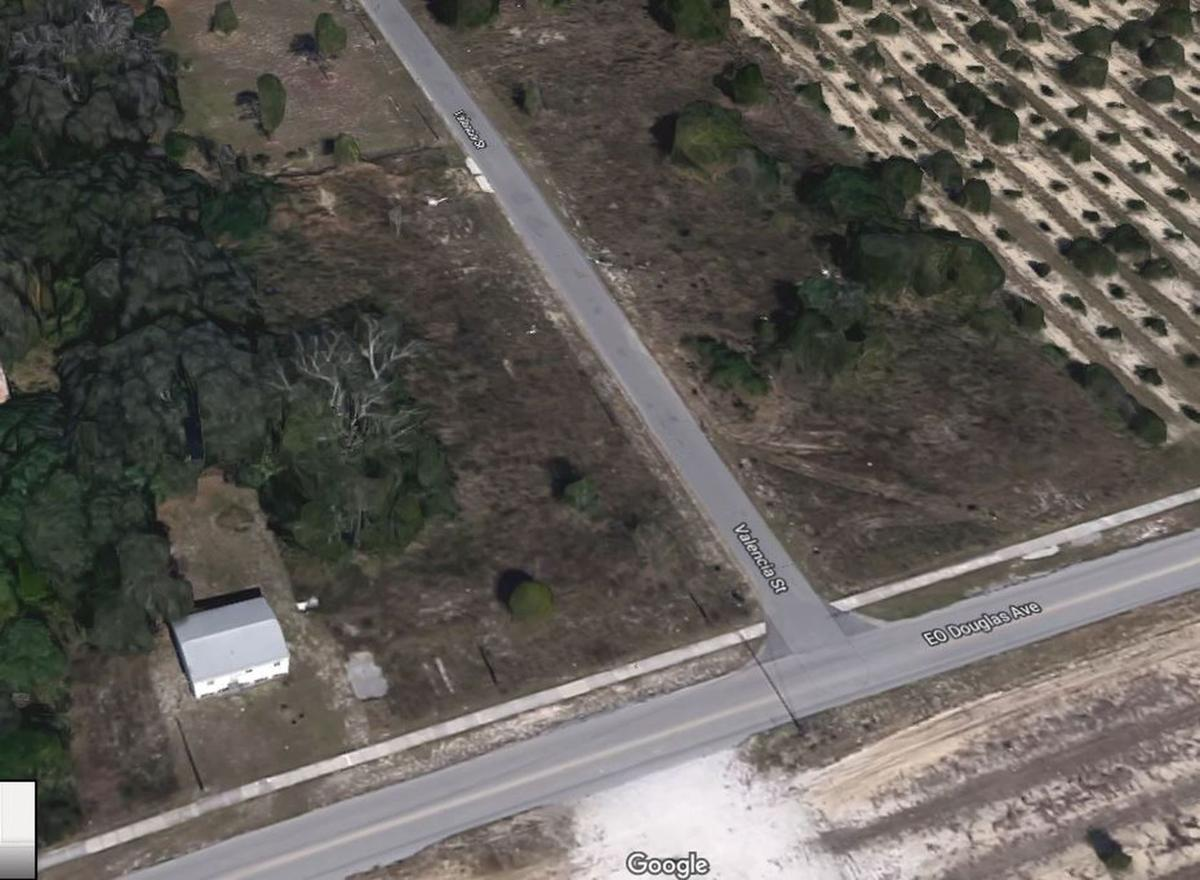 Aerial view of proposed donation
