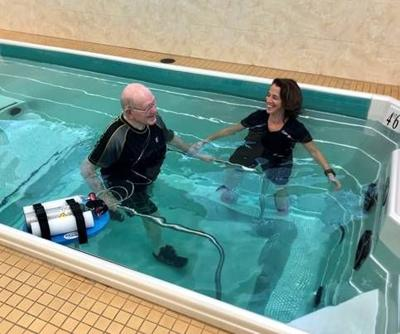 Pool therapy freedom for those with chronic lung conditions
