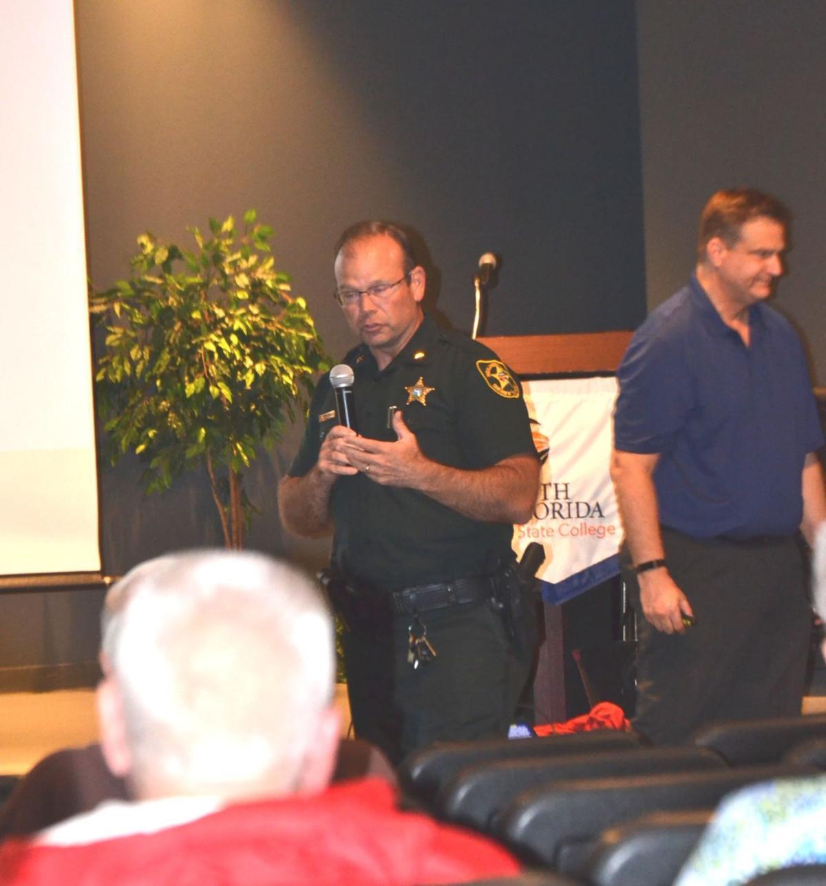Sheriff Paul Blackman speaks on Safe Schools