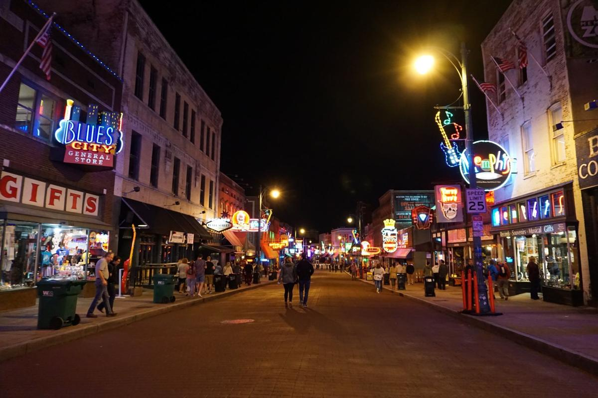View of Beale Street in Memphis