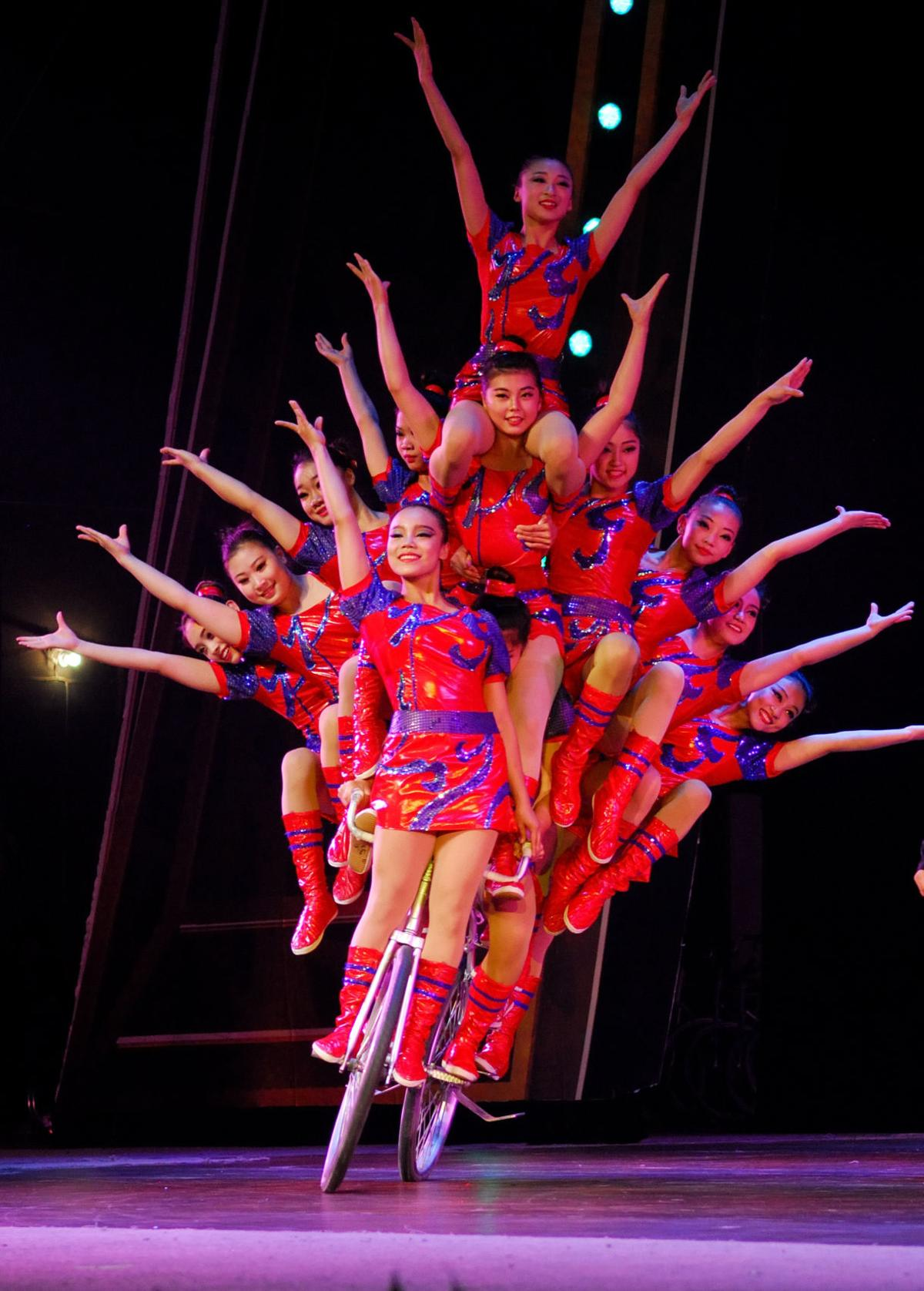 Elite circus performers from the People's Republic of China features traditional and contemporary Chinese circus acts