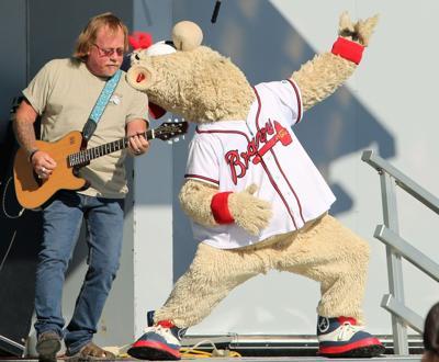 The Braves' mascot Blooper