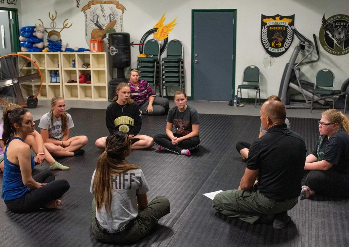 Self-defense class for female high school seniors