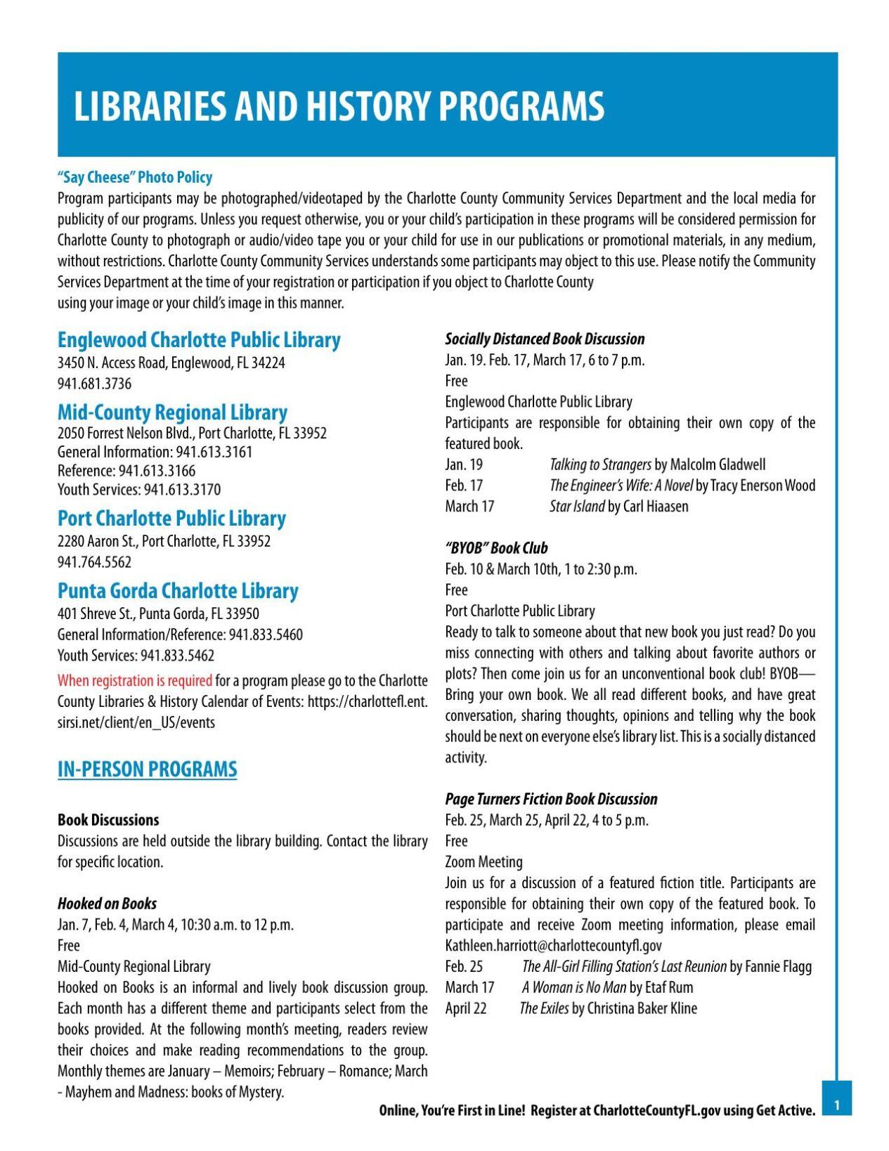 Charlotte County Centennial Program