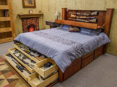 bed gun storage
