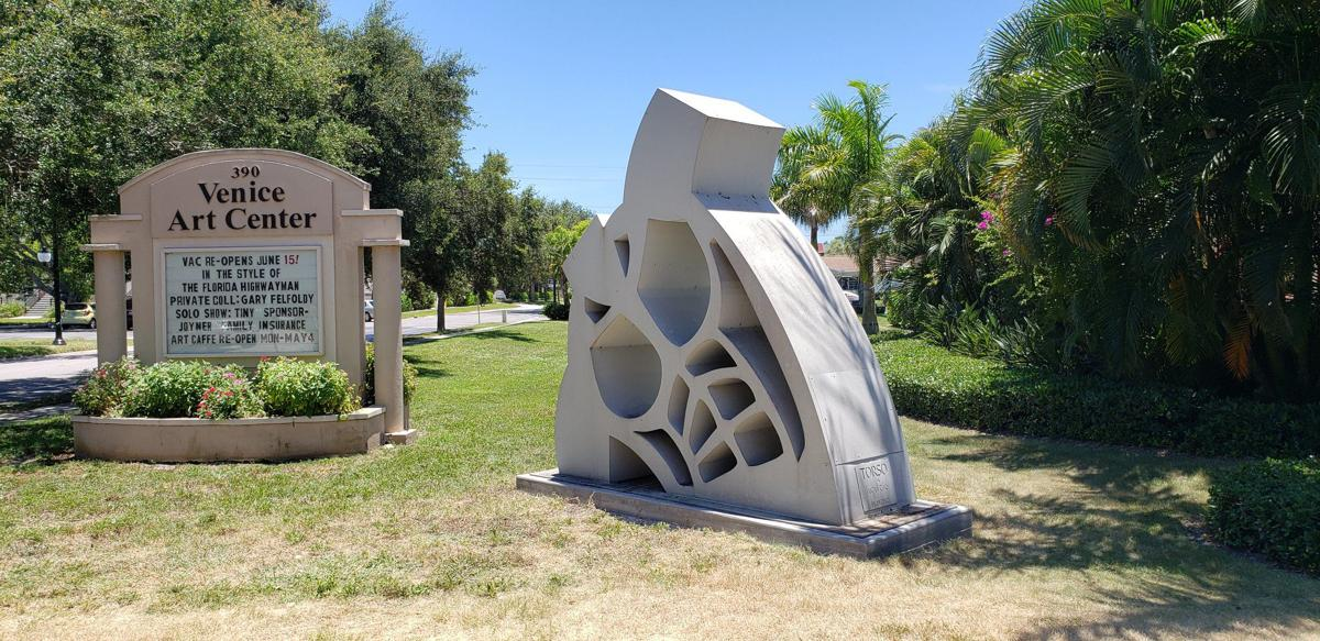 Torso sculpture at Venice Art Center