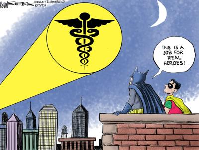 COVID Heroes by Kevin Siers, The Charlotte Observer, NC