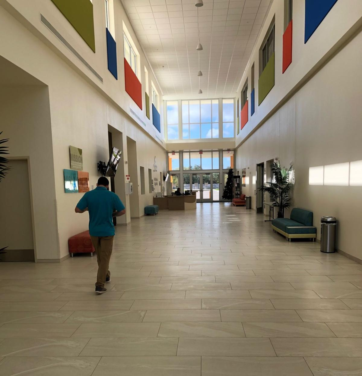 Recreation center lobby