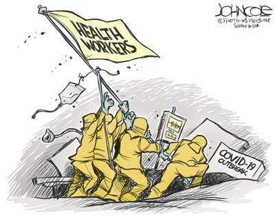 Health Care Workers and COVID 19 by John Cole, The Scranton Times-Tribune, PA
