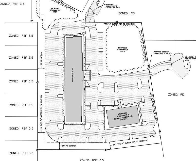 Hotel layout behind Edgewater Church (copy)