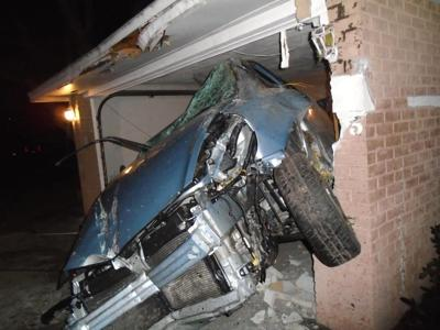 Car crashes into garage - Haines City Police Department photo