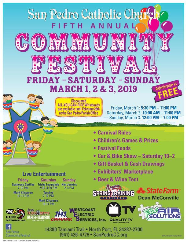 3-day family festival scheduled for San Pedro Church