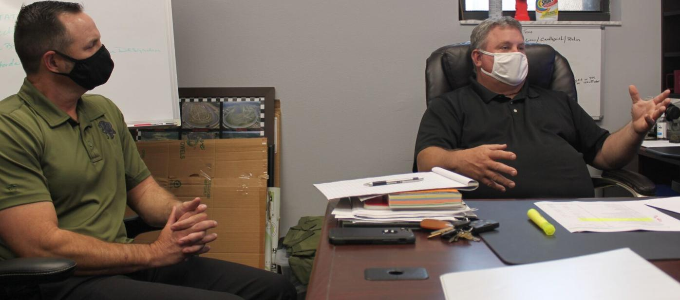 Deputy Chief Frank Giddens and Fire Chief Shawn Carvey