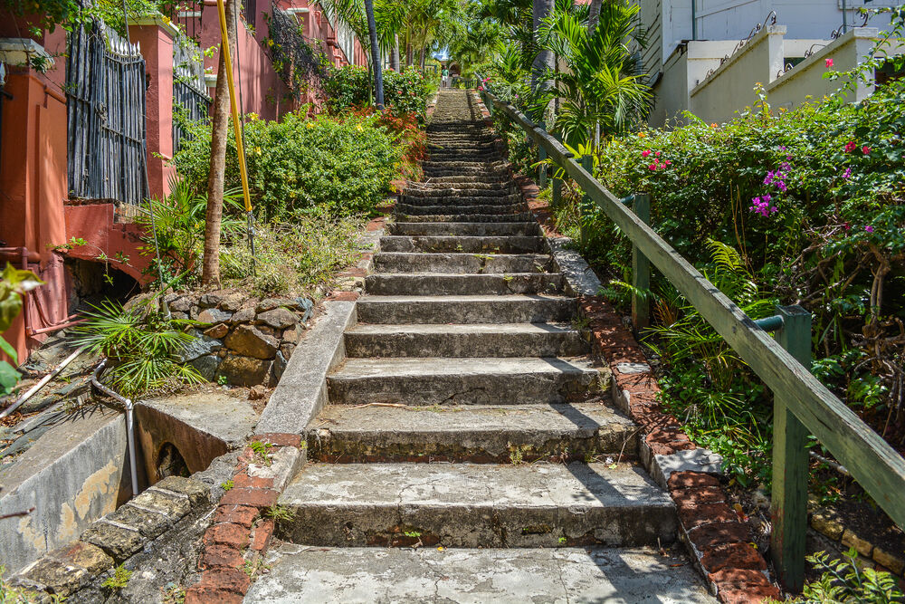 Famous 99 Steps in St. Thomas