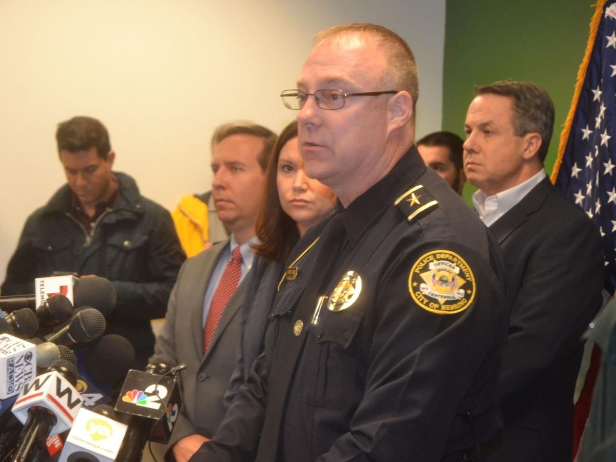 Police Chief Karl Hoglund at press conference