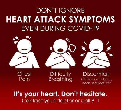 Don't ignore heart attack symptoms, even during COVID-19