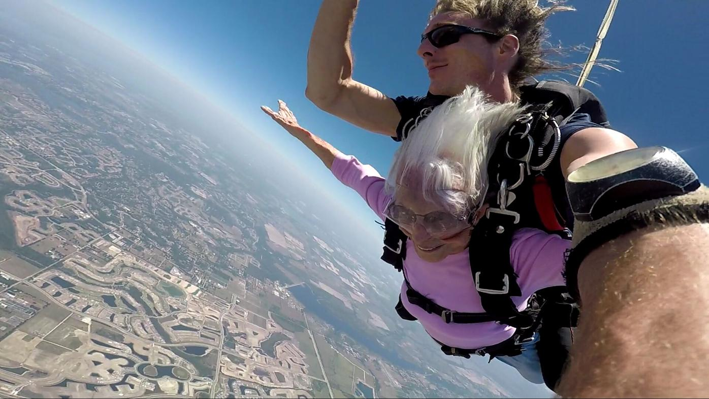 Betty sky diving