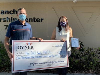 Joyner Family Insurance Donates To Sky Family Y In Venice Venice Gondolier Sun Yoursun Com