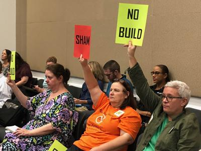 Protesters for proposed toll road