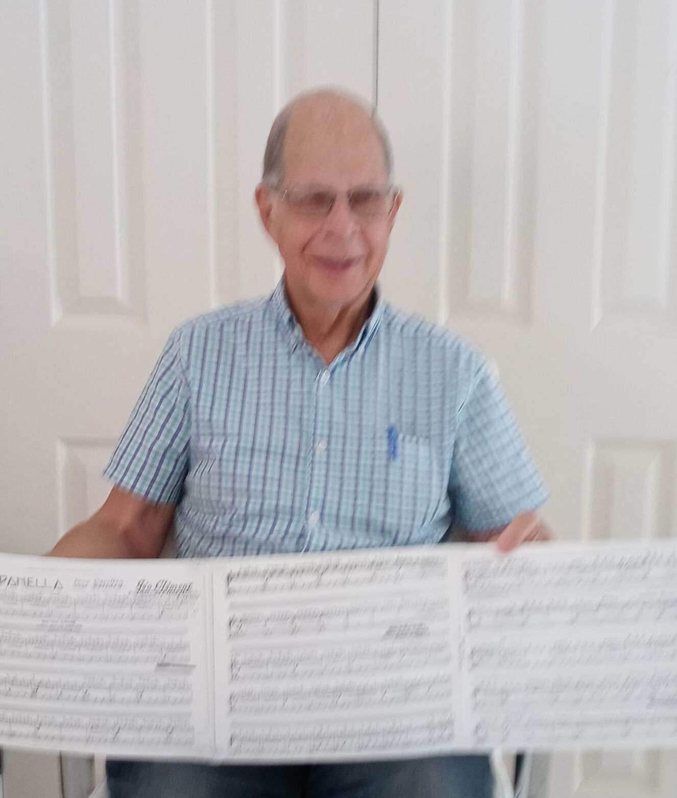 Carilloneur with his sheeet music