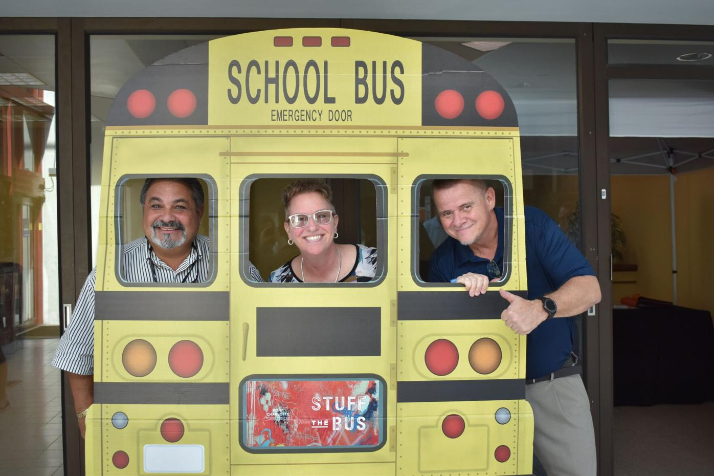 Stuff the Bus with three