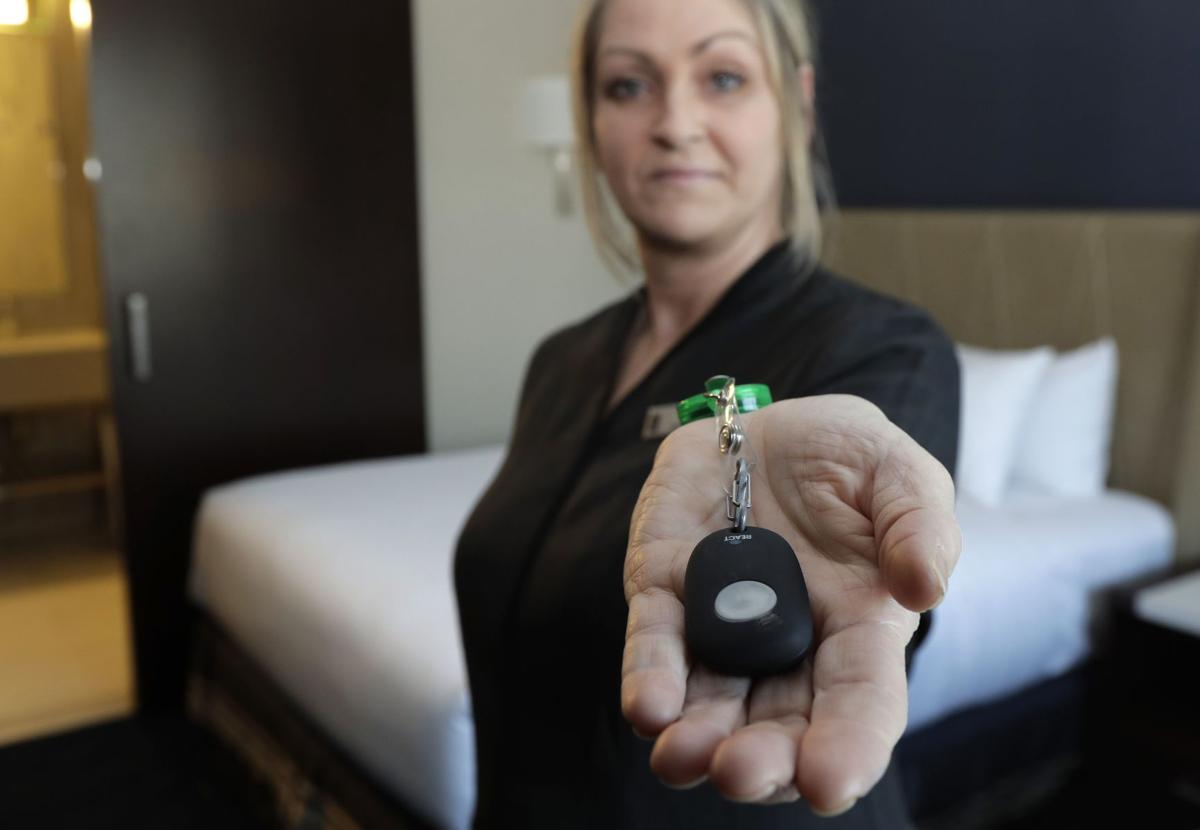 Housekeepers get panic buttons