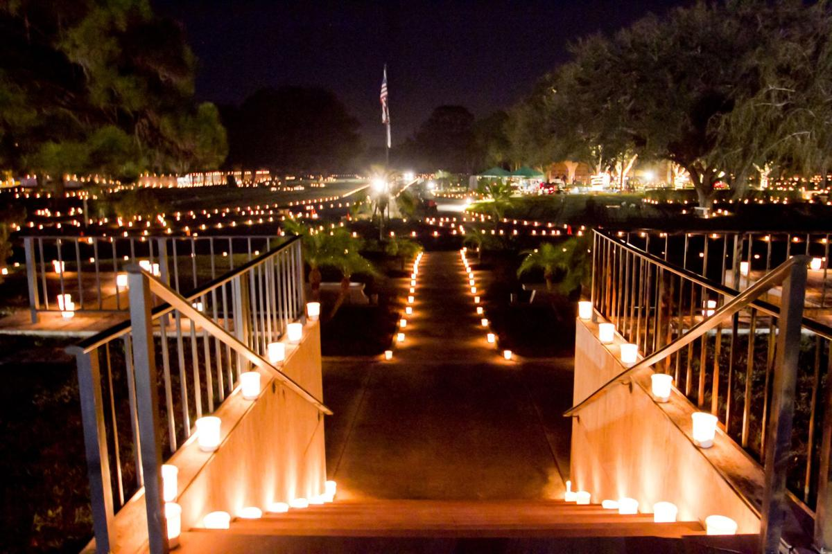 Let there be light at Venice Memorial Gardens on this evening