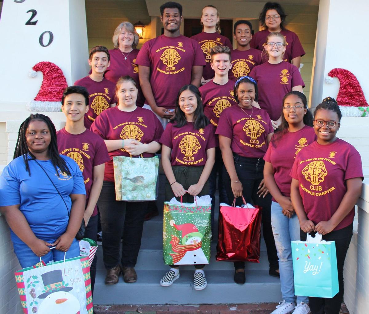 LEO Club members dedicated to helping others