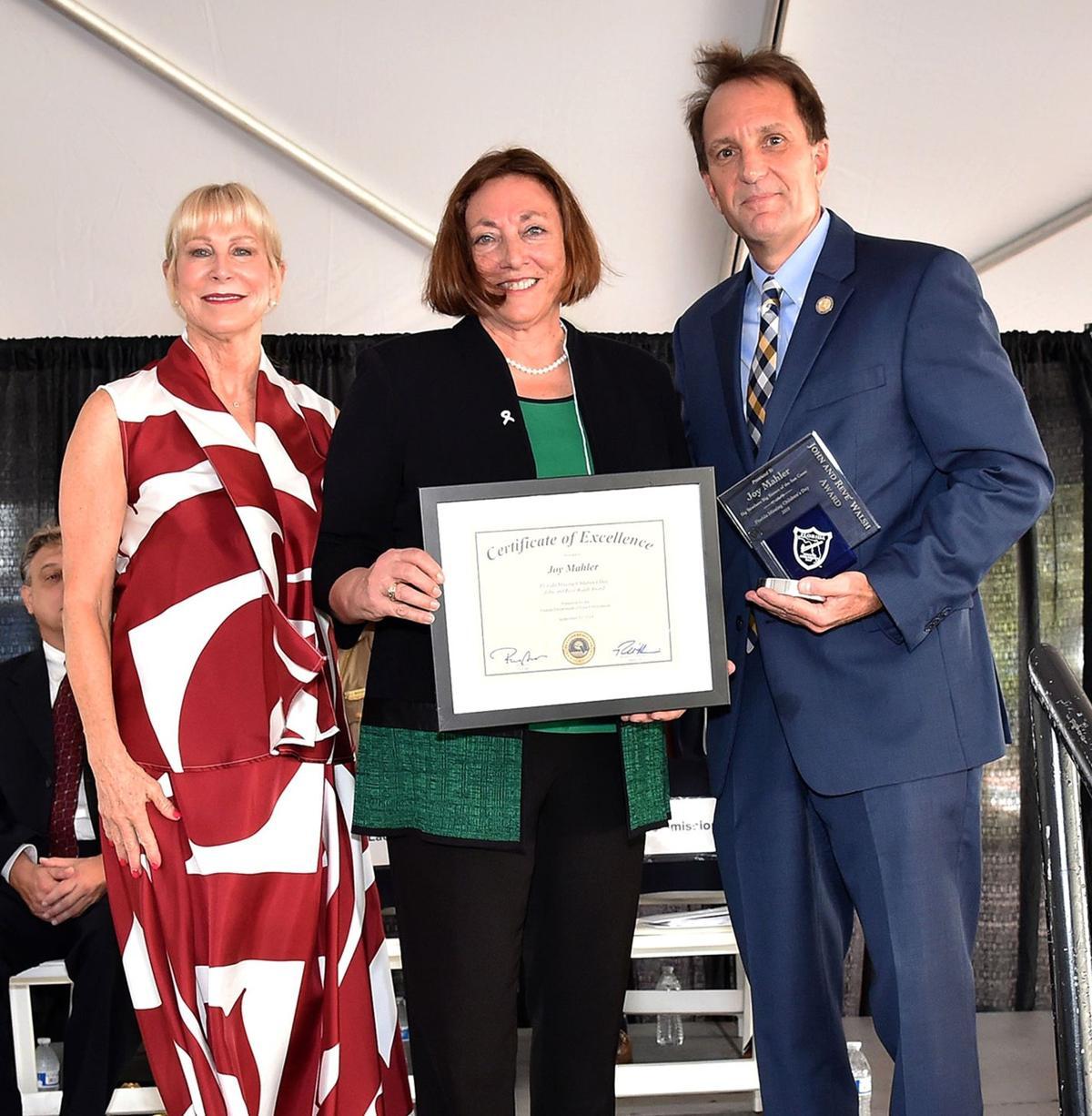 Joy Mahler receives Walsh award