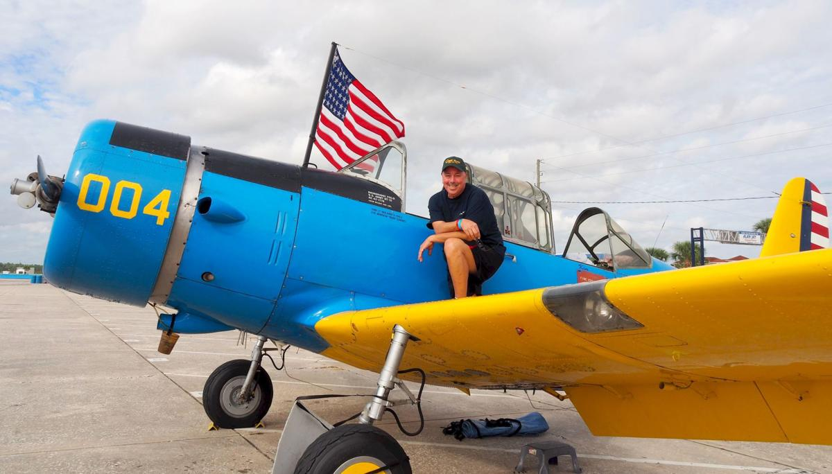 Tom Smith, the owner of this 1942 Vultee, organized a group of pilots with  historic aircraft to attend the Classic 12 Hour Sebring, Pistons and Props.