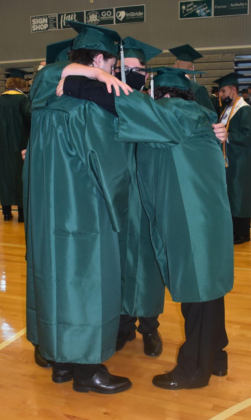 Seniors in a huddle