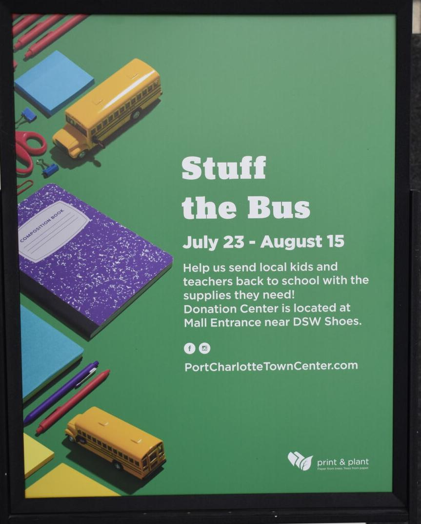 Stuff the Bus sign