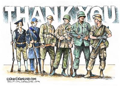 Veterans: Thank you - by Dave Granlund