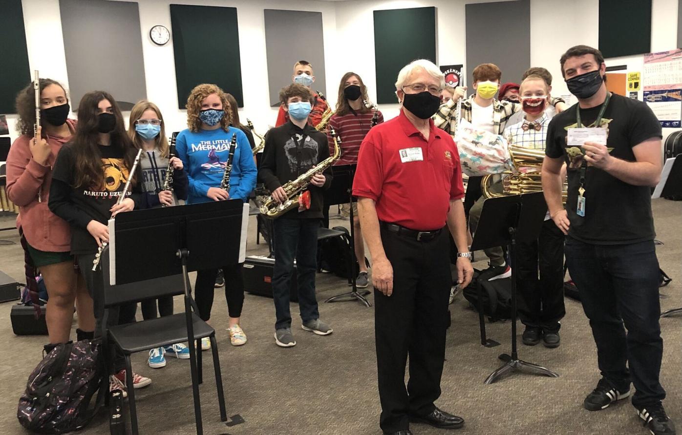 Venice High School band receives check