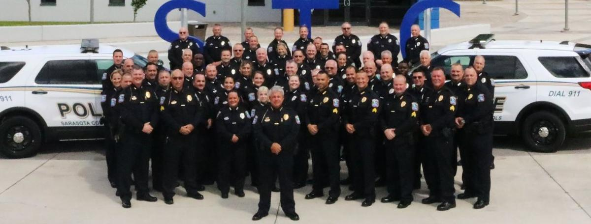 Officers with Sarasota County Schools Police.