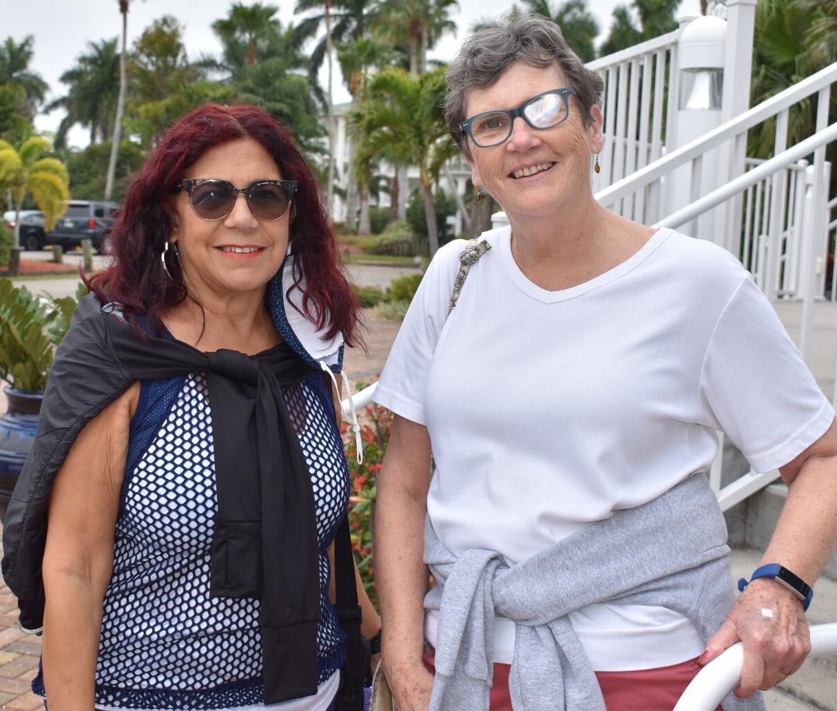 Miriam Mendoza (left) and Kathy Tapogna