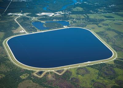 Peace River reservoir