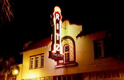 Ritz Theatre at night