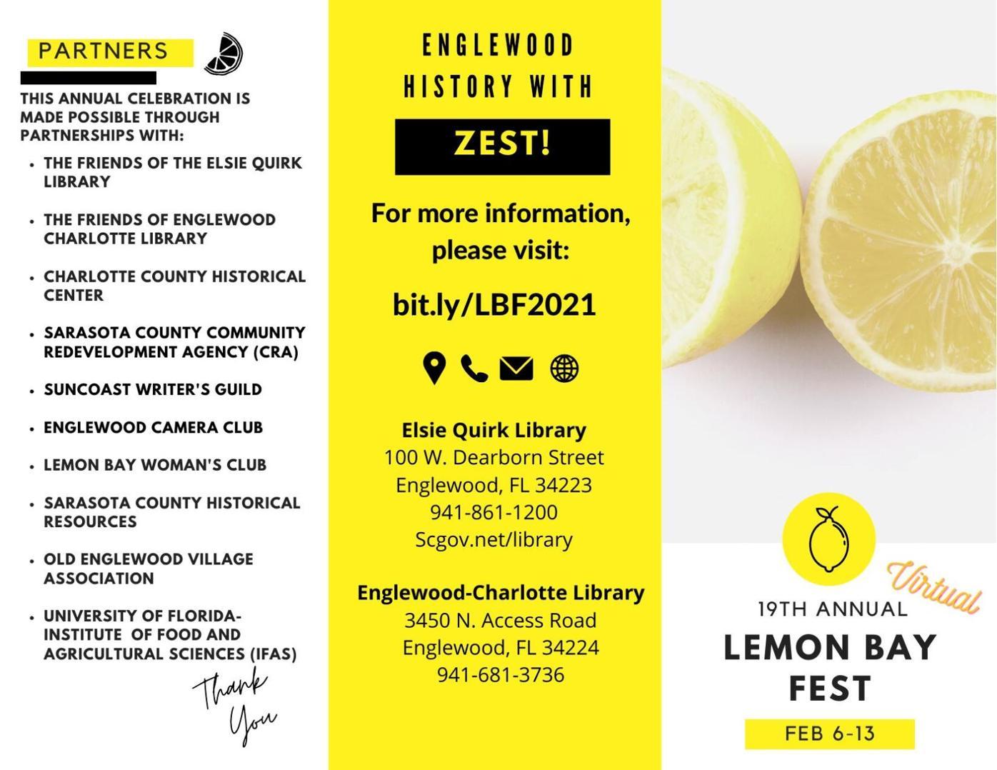 2021 Lemon Bay Fest Brochure