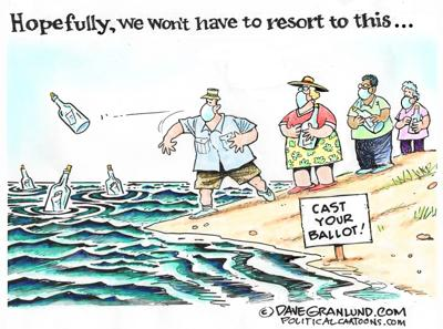 Casting ballots 2020 by Dave Granlund