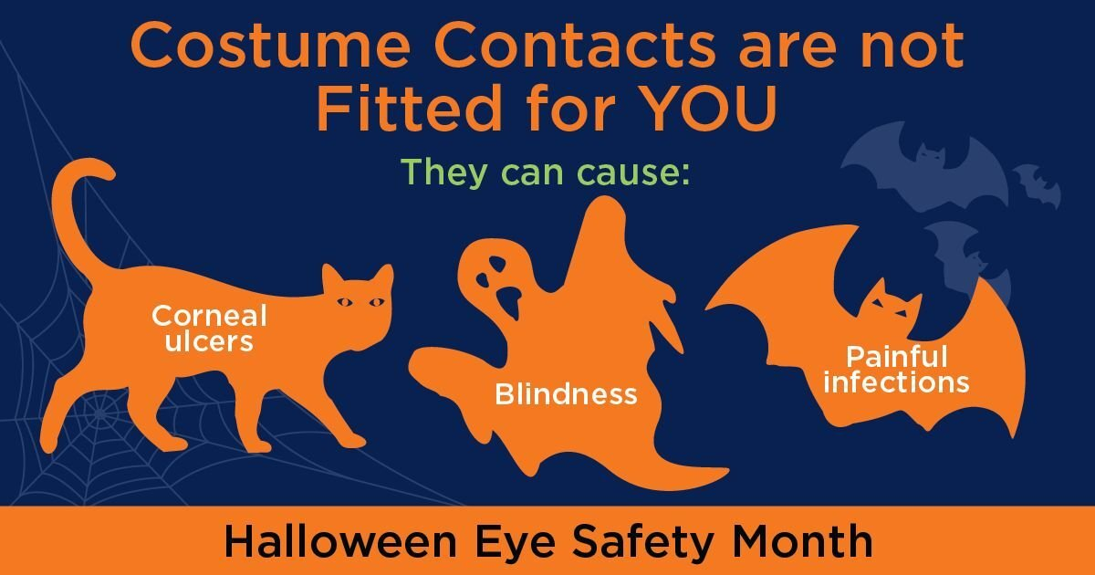 Beware of the dangers of illegal costume contact lenses