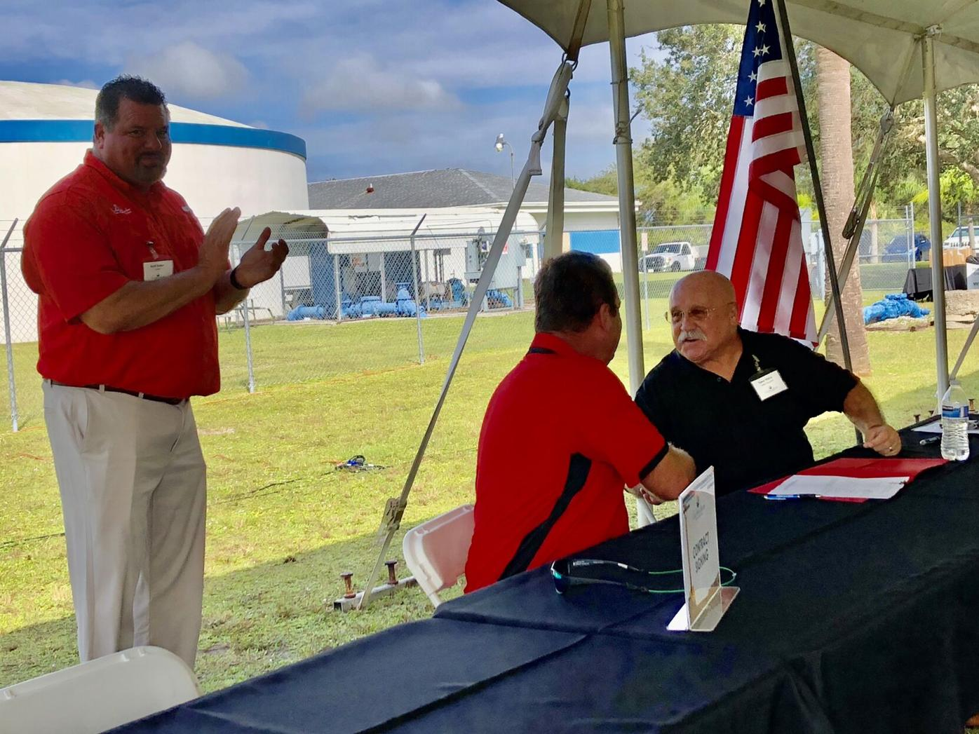 Charlotte Harbor Water Association contract signing