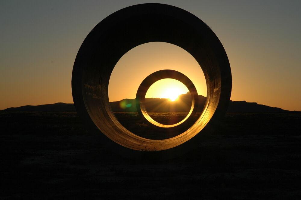 Sun Tunnels in Utah dessert