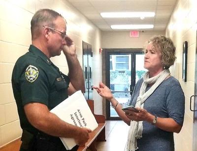 Sheriff Paul Blackman and Avon Park Councilwoman Maria Sutherland