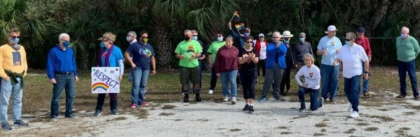 MCC members gather for parade with masks in place