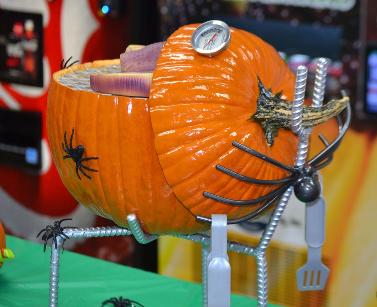 Weber Pumpkin by Road & Bridge Department back
