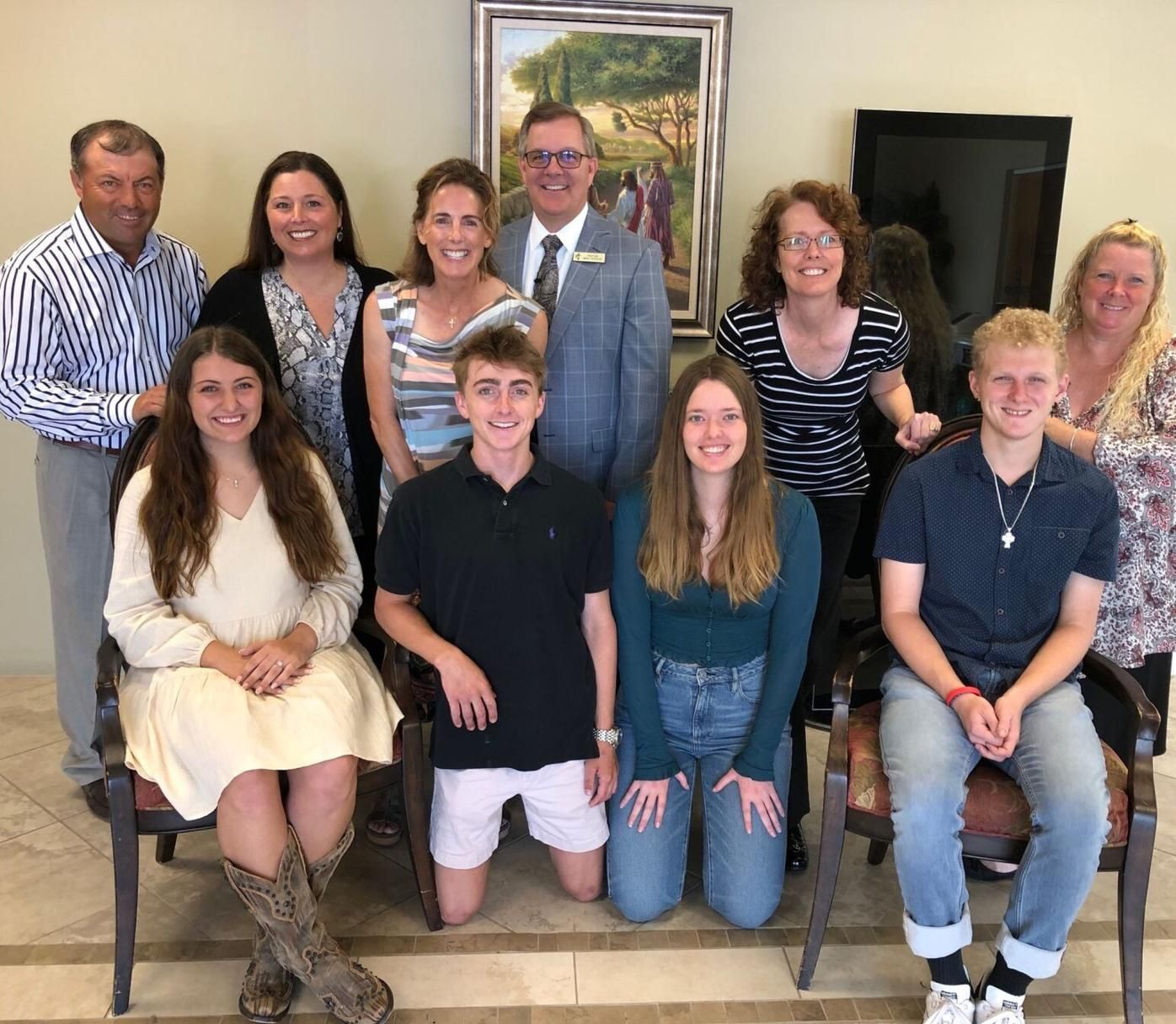 Church members award $17,000 in college scholarships to seven of its young members.