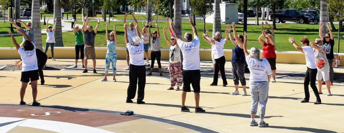 60c252b34 Dozens of residents practice Tai Chi with instructors from the Peace River Tai  Chi/Qi Gong group Saturday to celebrate World Tai Chi day.