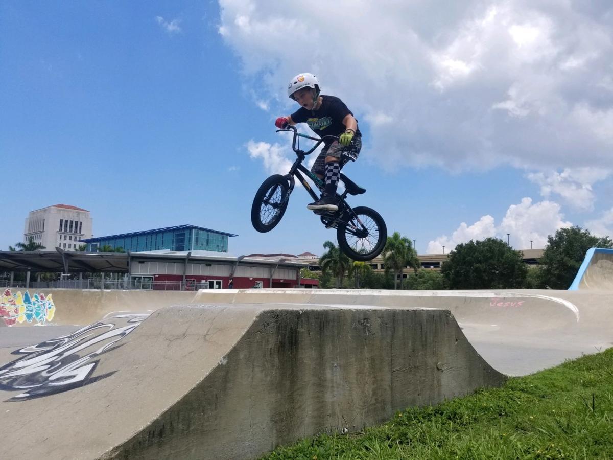 Jump at park
